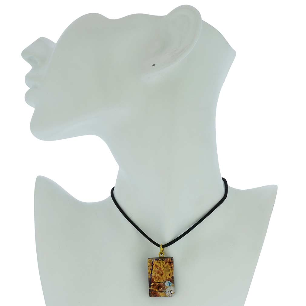 Venetian Reflections Rectangular Pendant