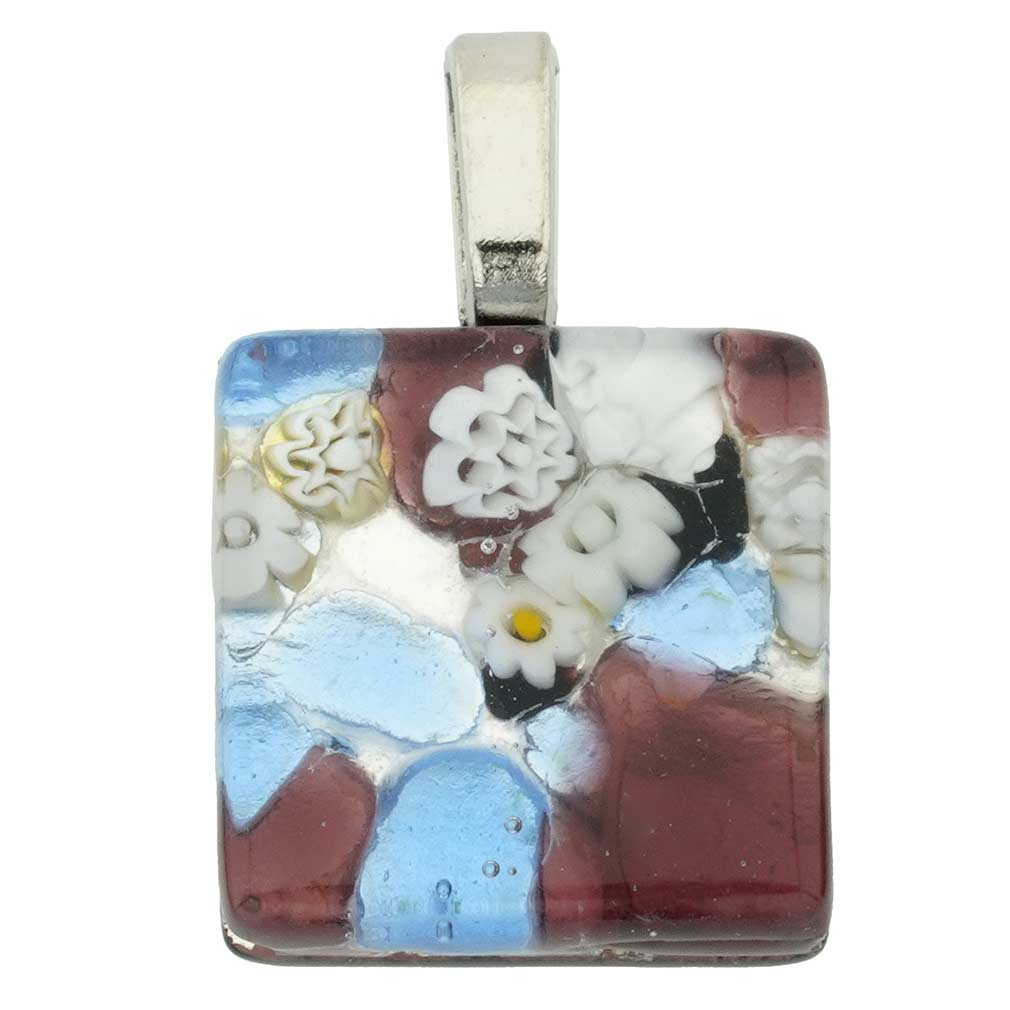 Venetian Reflections Square Pendant #10