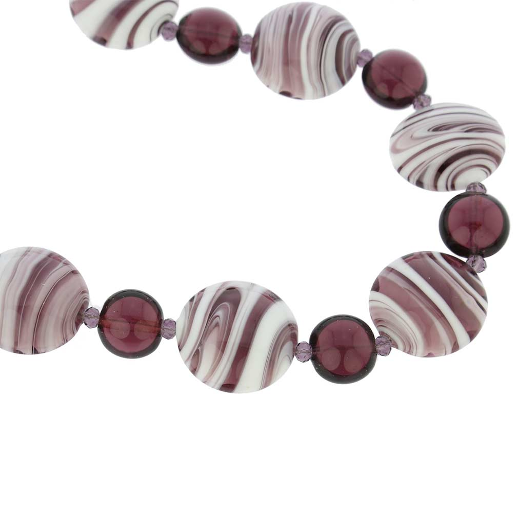Murano Wonders Necklace - Purple