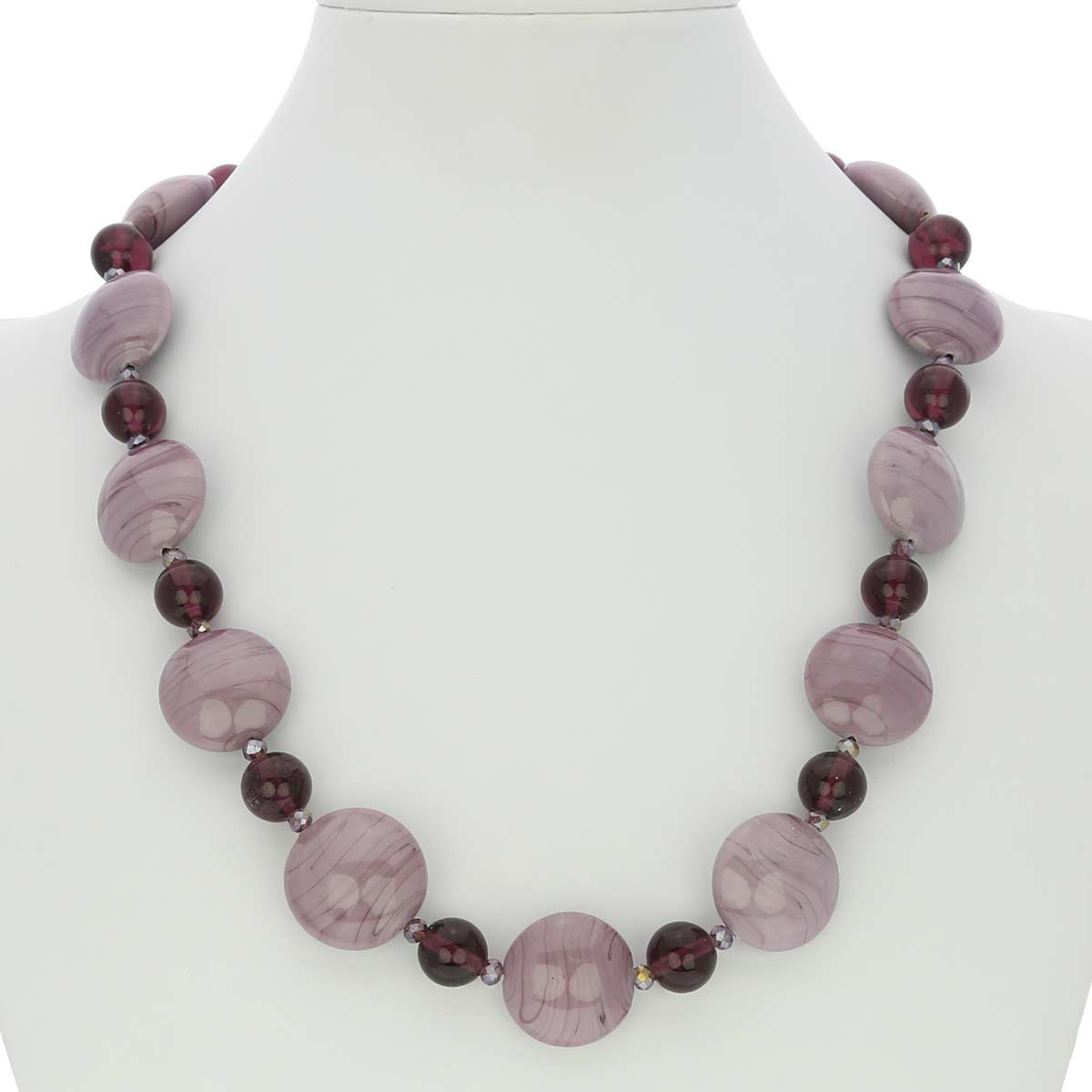Murano Wonders Necklace - Purple Cream