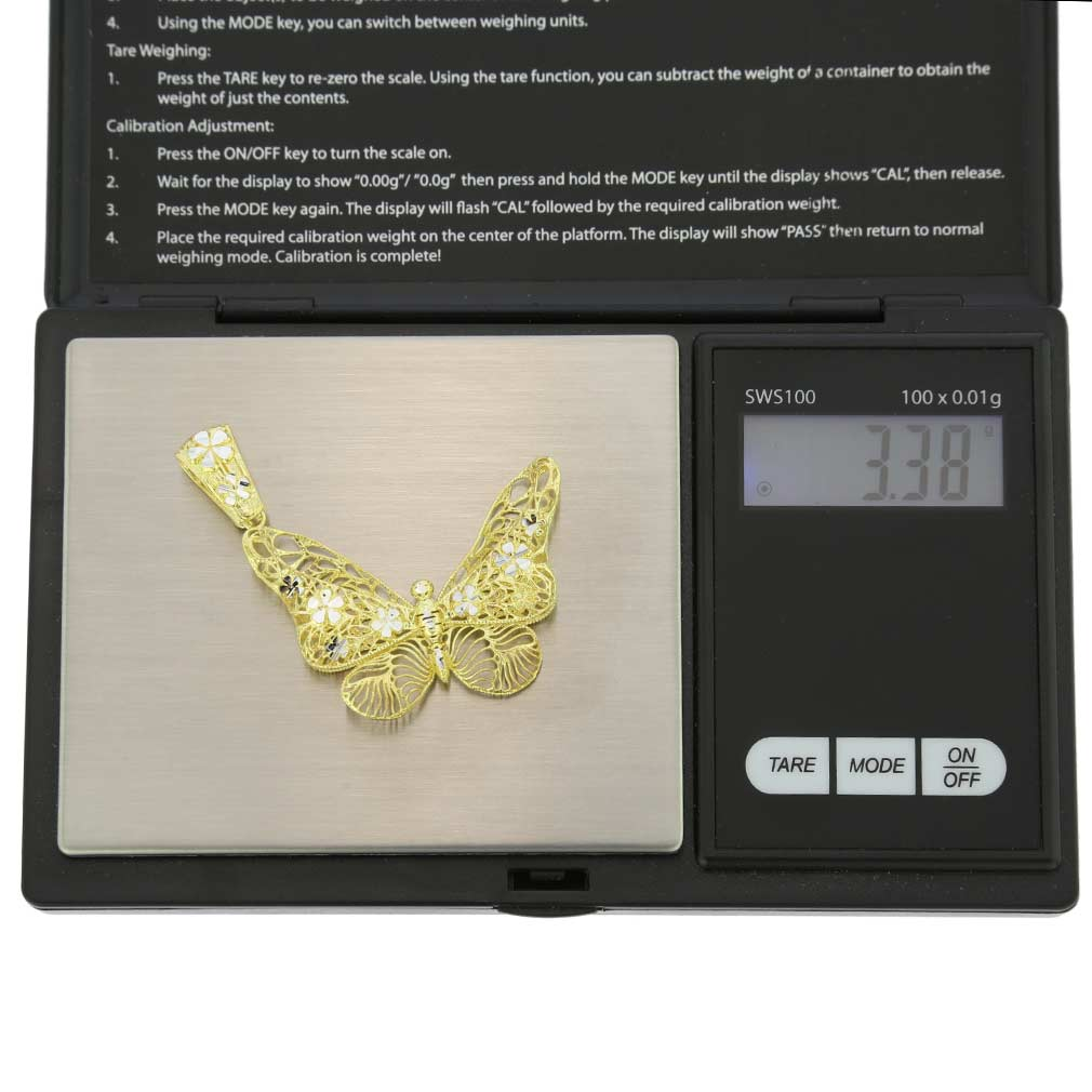 Butterfly Sterling Silver Gold-Plated Pendant