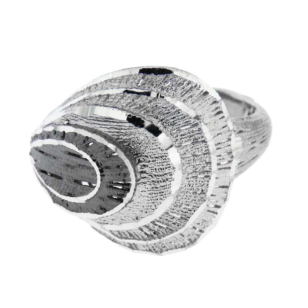 Fancy Fan Italian Sterling Silver Ring