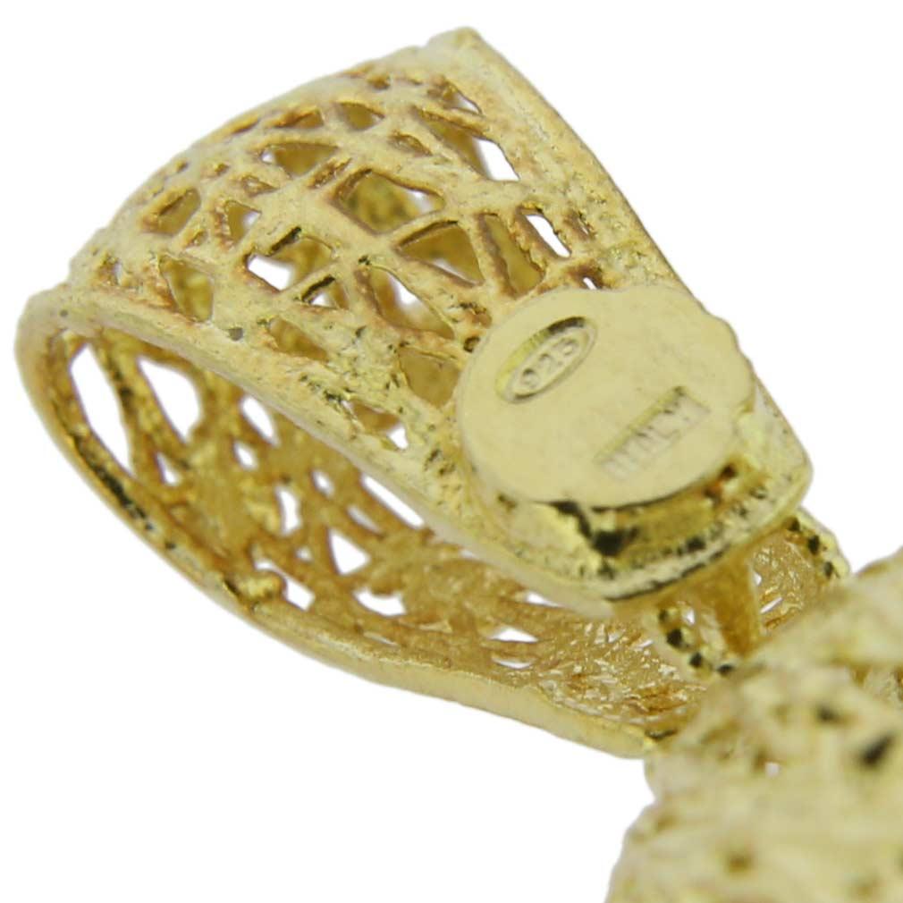 Poppy Flower Sterling Silver Gold-Plated Pendant