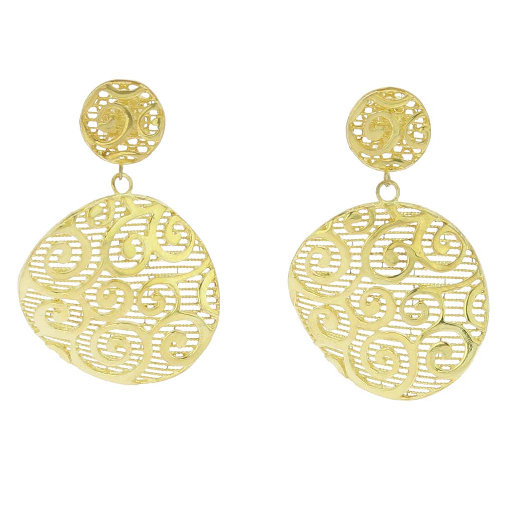 en fiore gold top product rose plated goldplated kampusch earrings ros