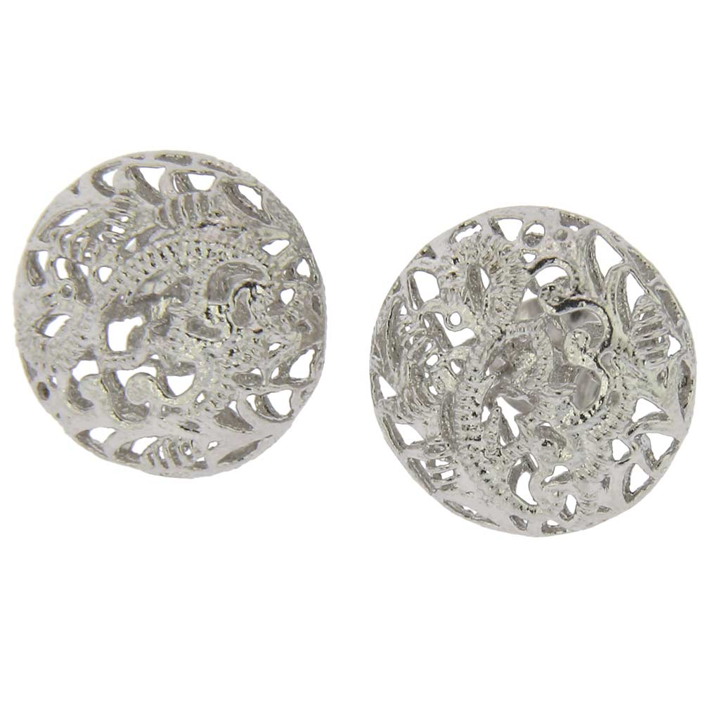 Italian Lace Sterling Silver Earrings
