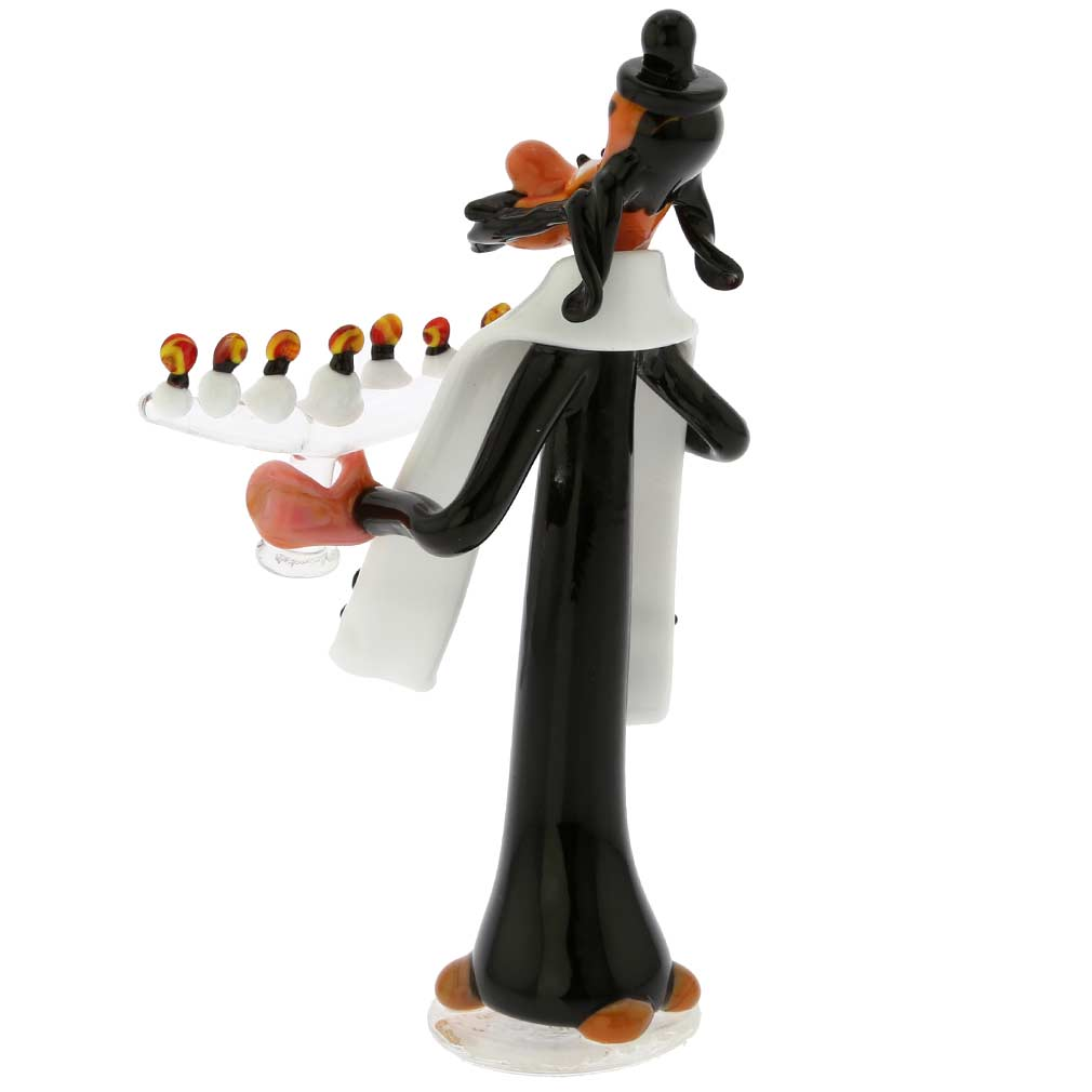 Murano Glass Rabbi With Menorah