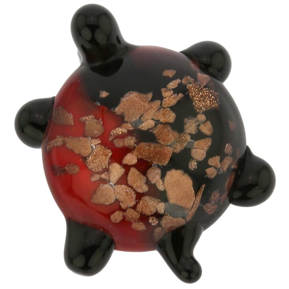 Murano Glass Turtle Pendant