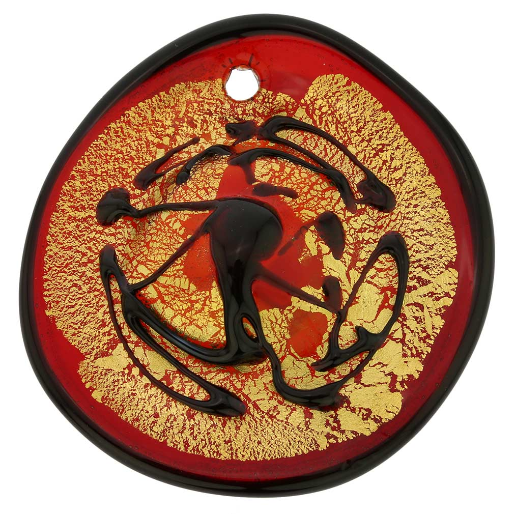 Rosso Murano Modern Art Pendant