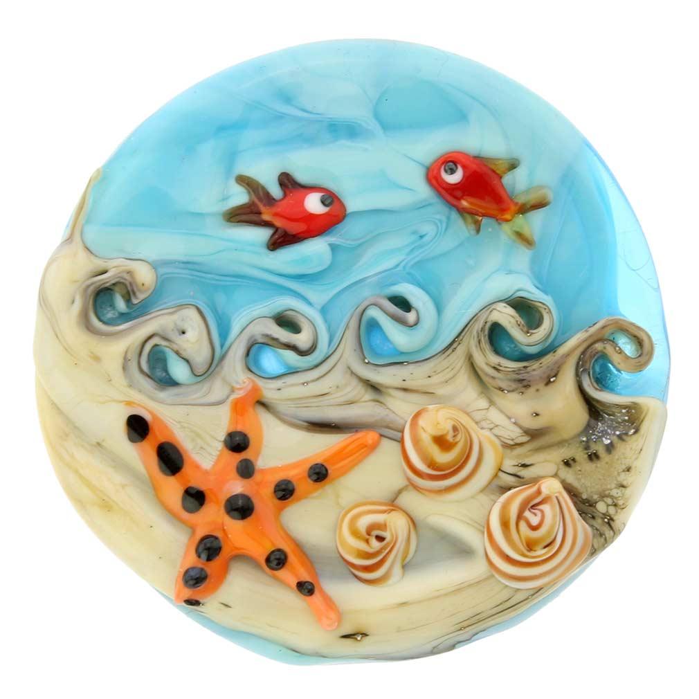 Ocean Life Round Murano Pendant