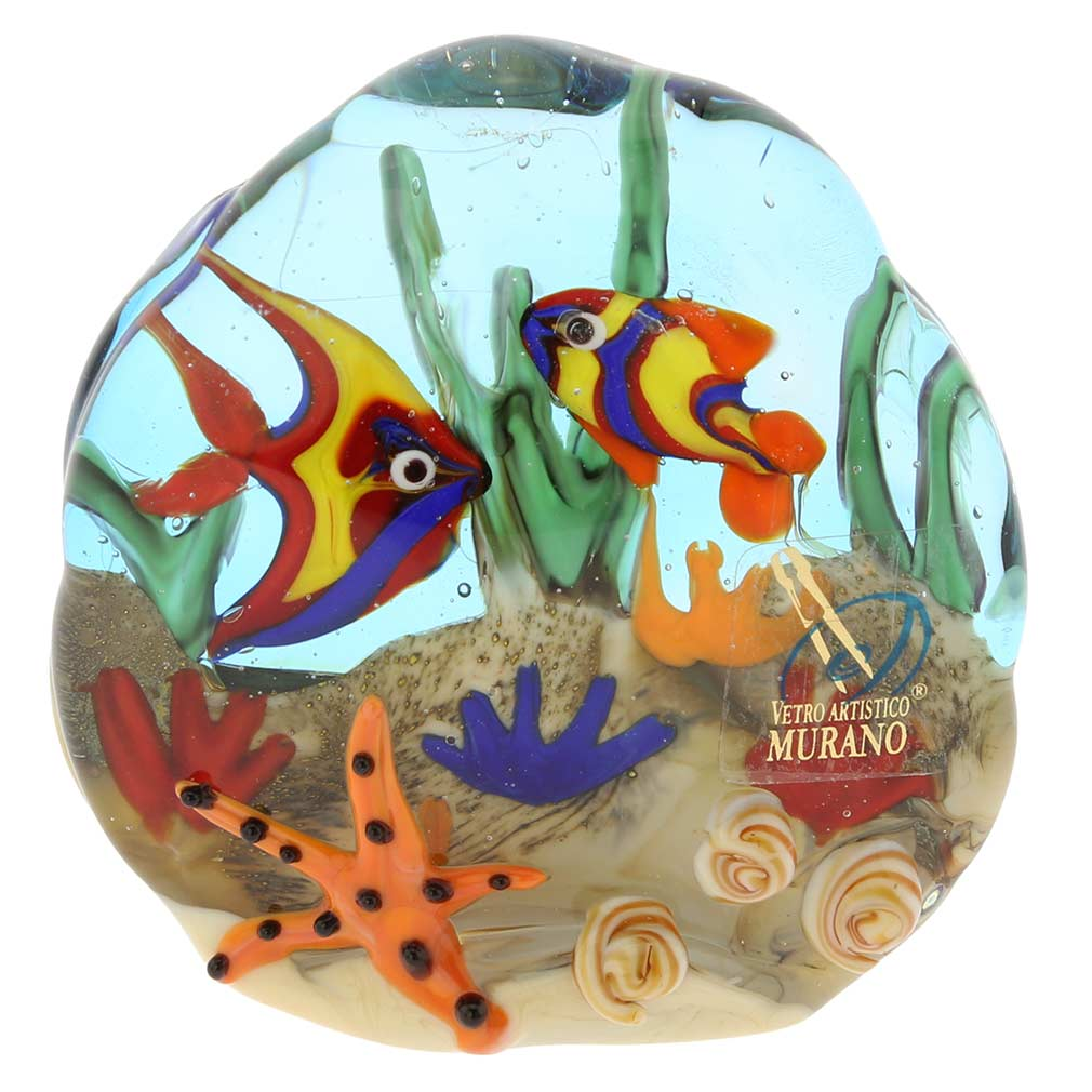 murano paperweights murano glass sea floor aquarium. Black Bedroom Furniture Sets. Home Design Ideas