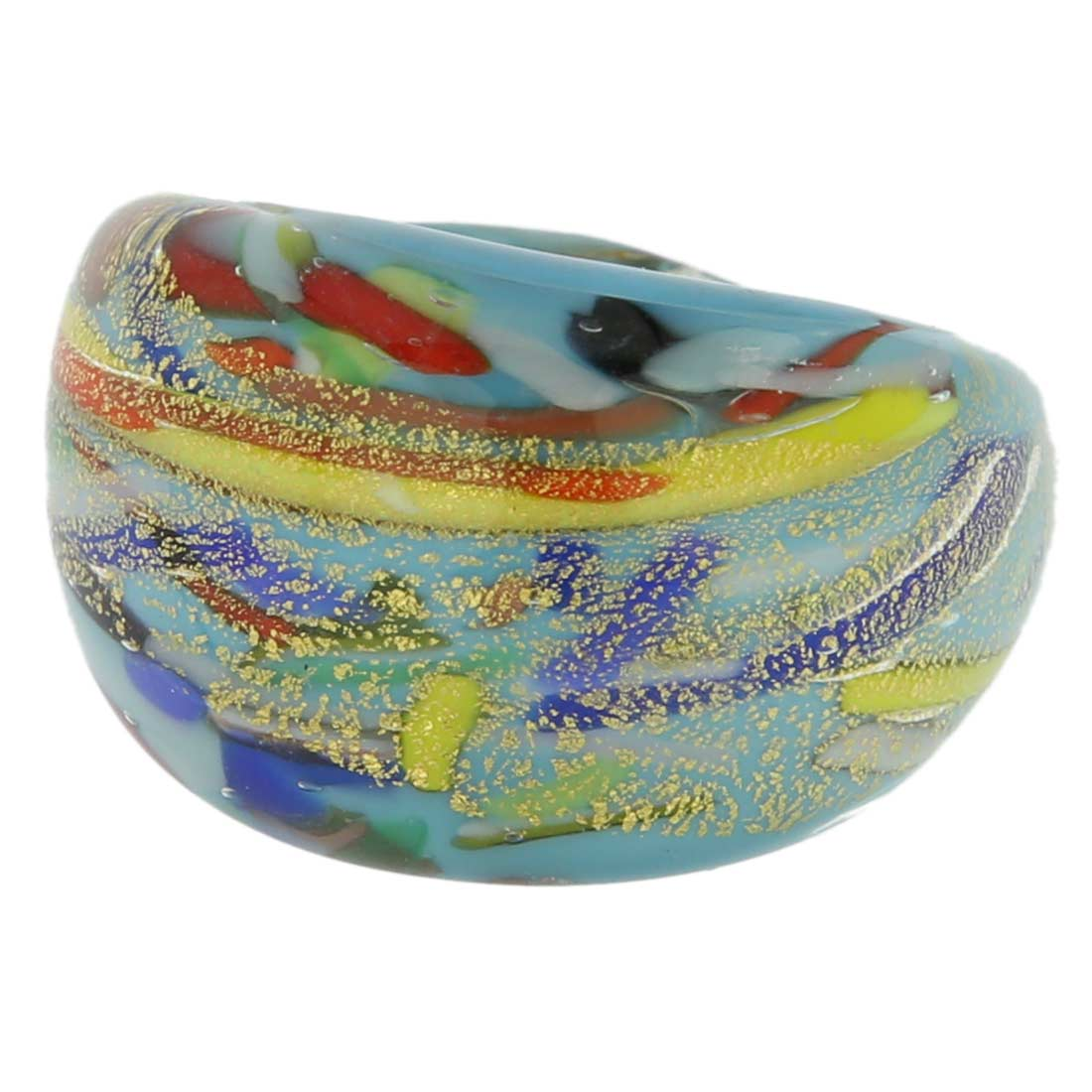 Avventurina Ocean Sunrise Ring In Domed Design