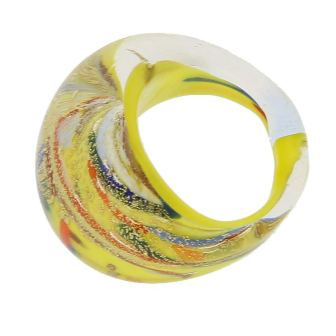 Avventurina Yellow Sunshine Ring In Domed Design