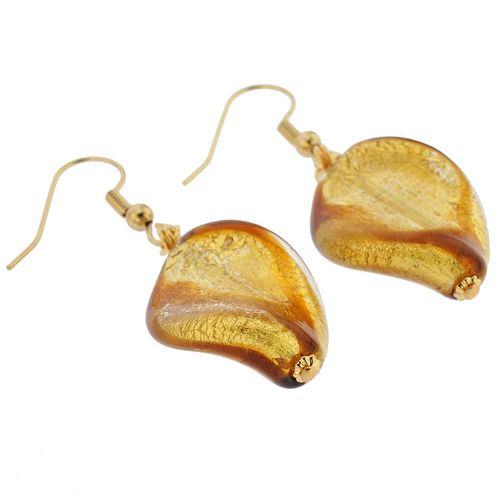 Royal Cognac Spiral Earrings