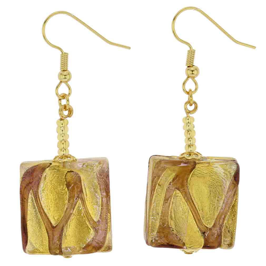 Royal Amethyst Squares earrings