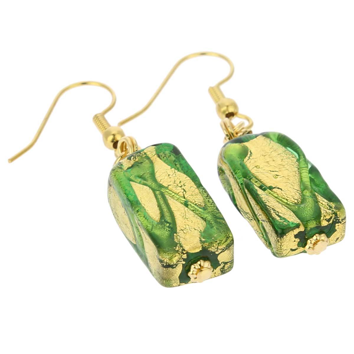 Royal Green Block earrings