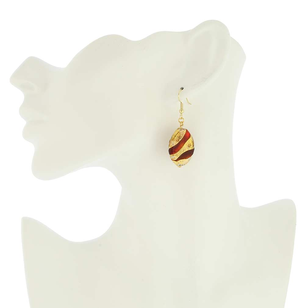 Royal Cognac Block Earrings