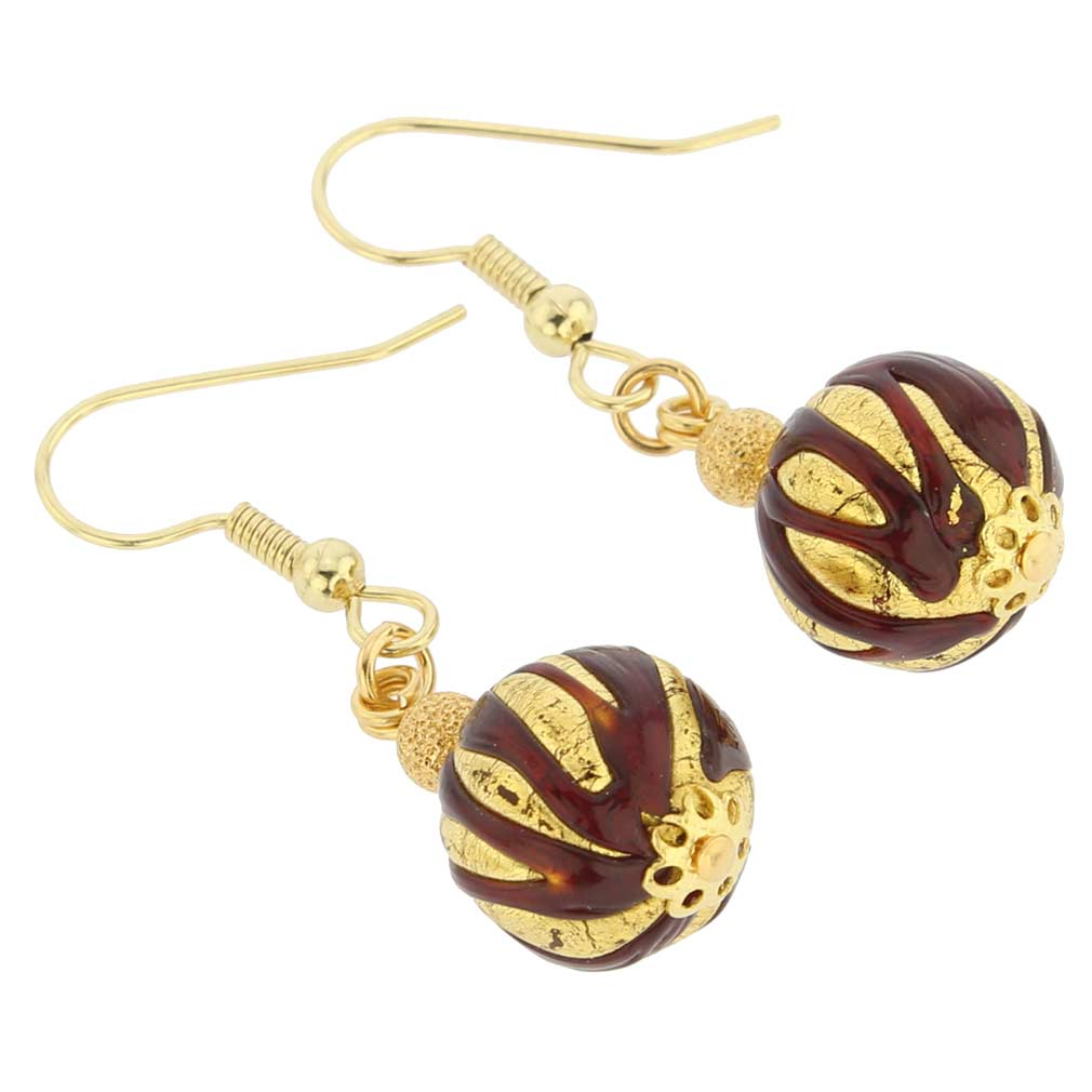 Royal Red Ball earrings