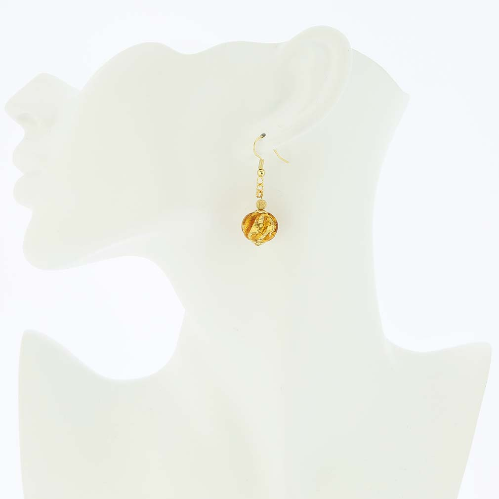 Royal Cognac Ball Earrings