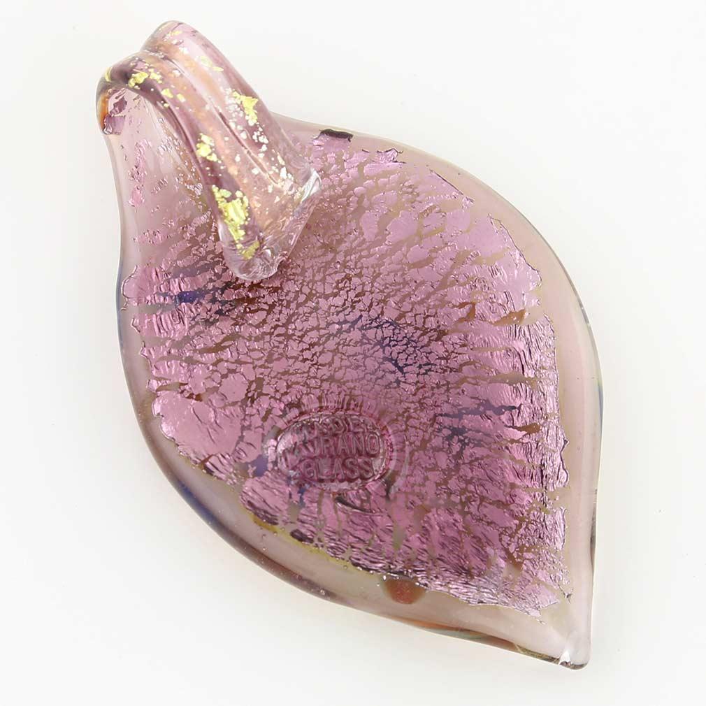 Monet leaf pendant - amethyst