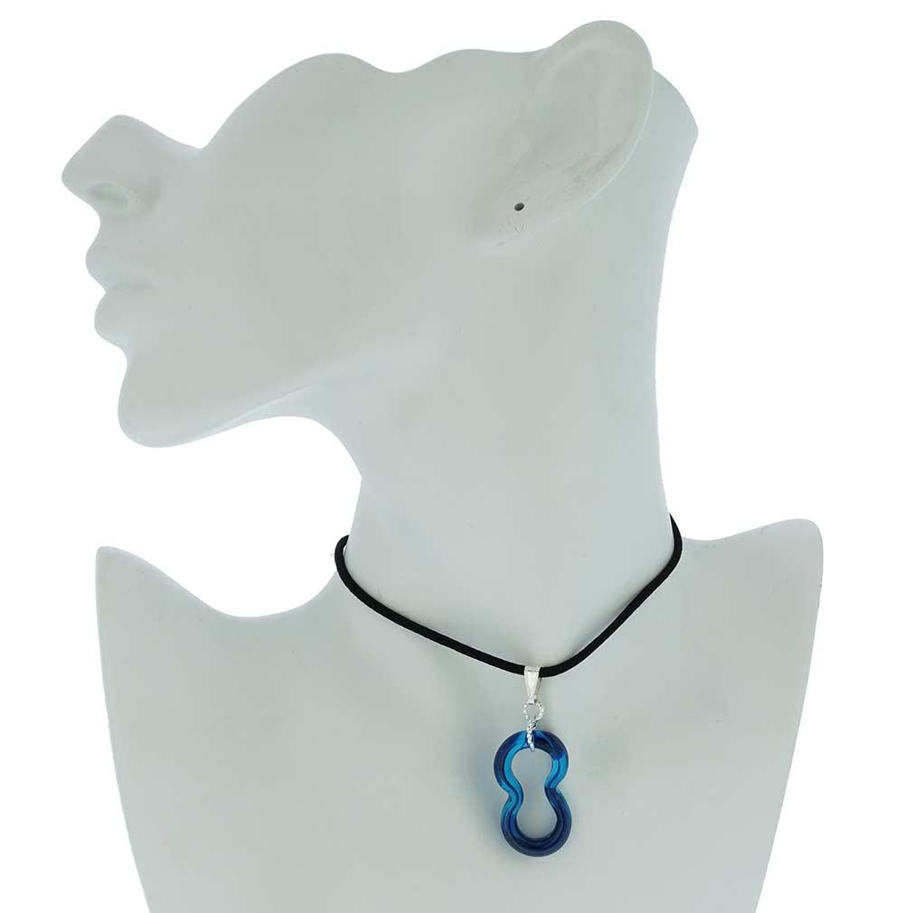 Infinity Pendant - Blue
