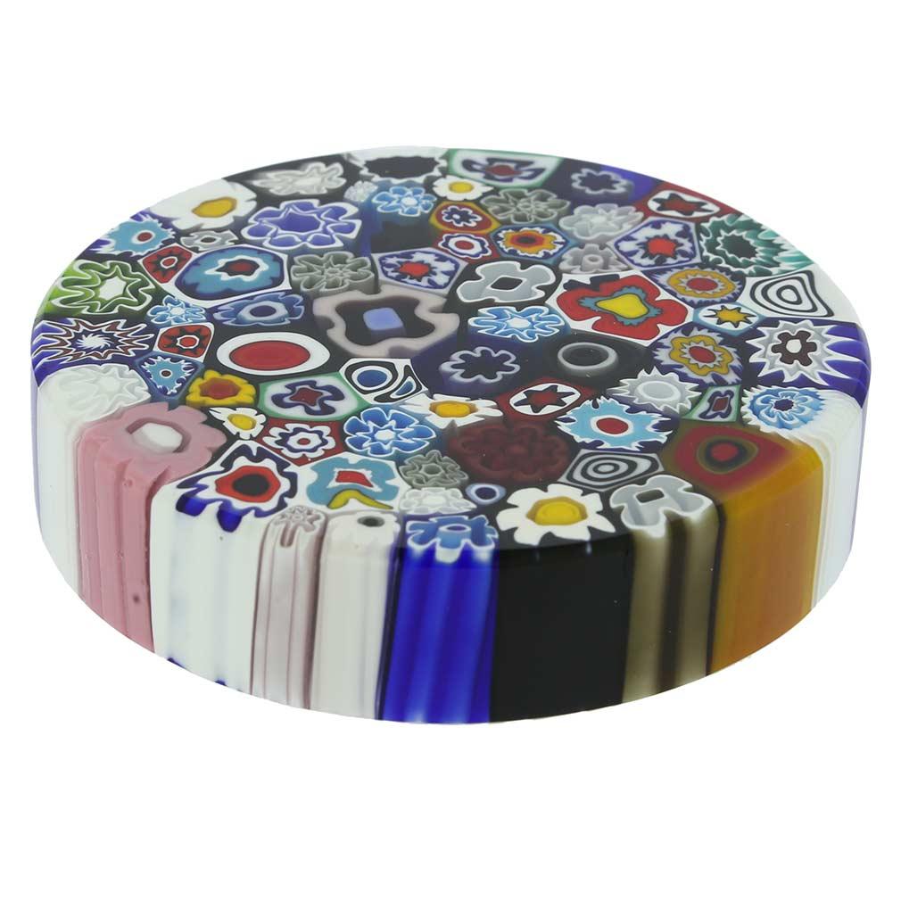 Murano Millefiori Round Paperweight - Large