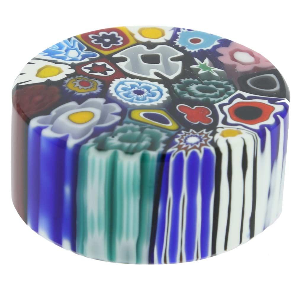 Murano Millefiori Round Paperweight - Small