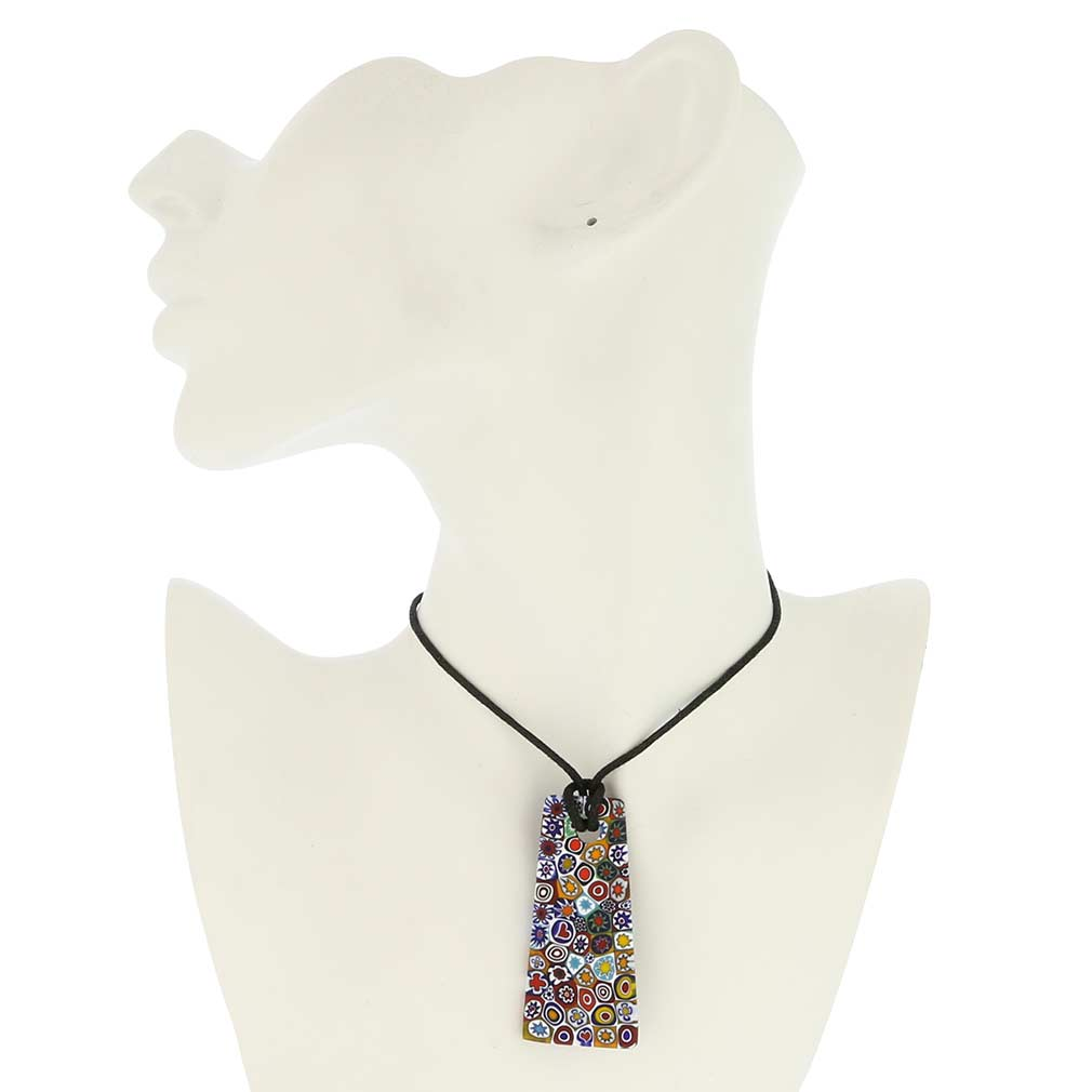 Matte Millefiori Necklace - Multicolor