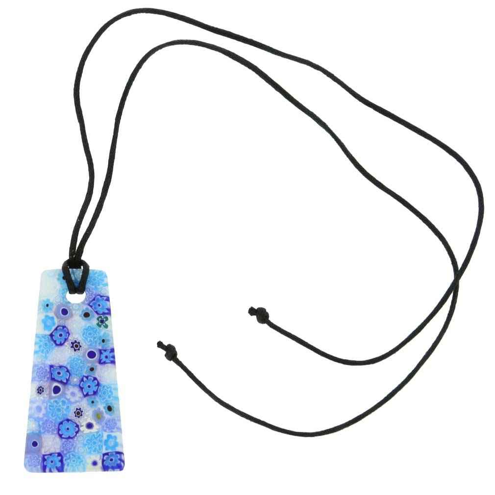Matte Millefiori Necklace - Blue