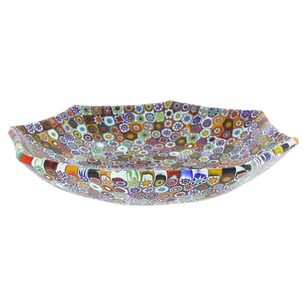 Murano Millefiori Octagonal Plate - Multicolor