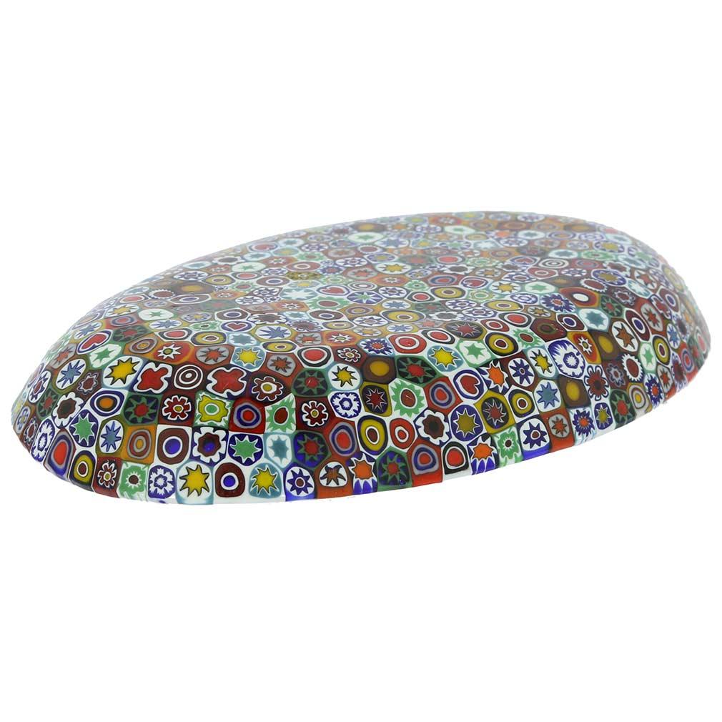 Murano Millefiori Oval Plate - Multicolor