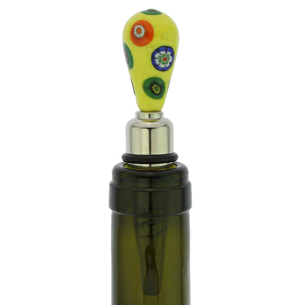 Venetian Mosaic bottle stopper - sunshine yellow