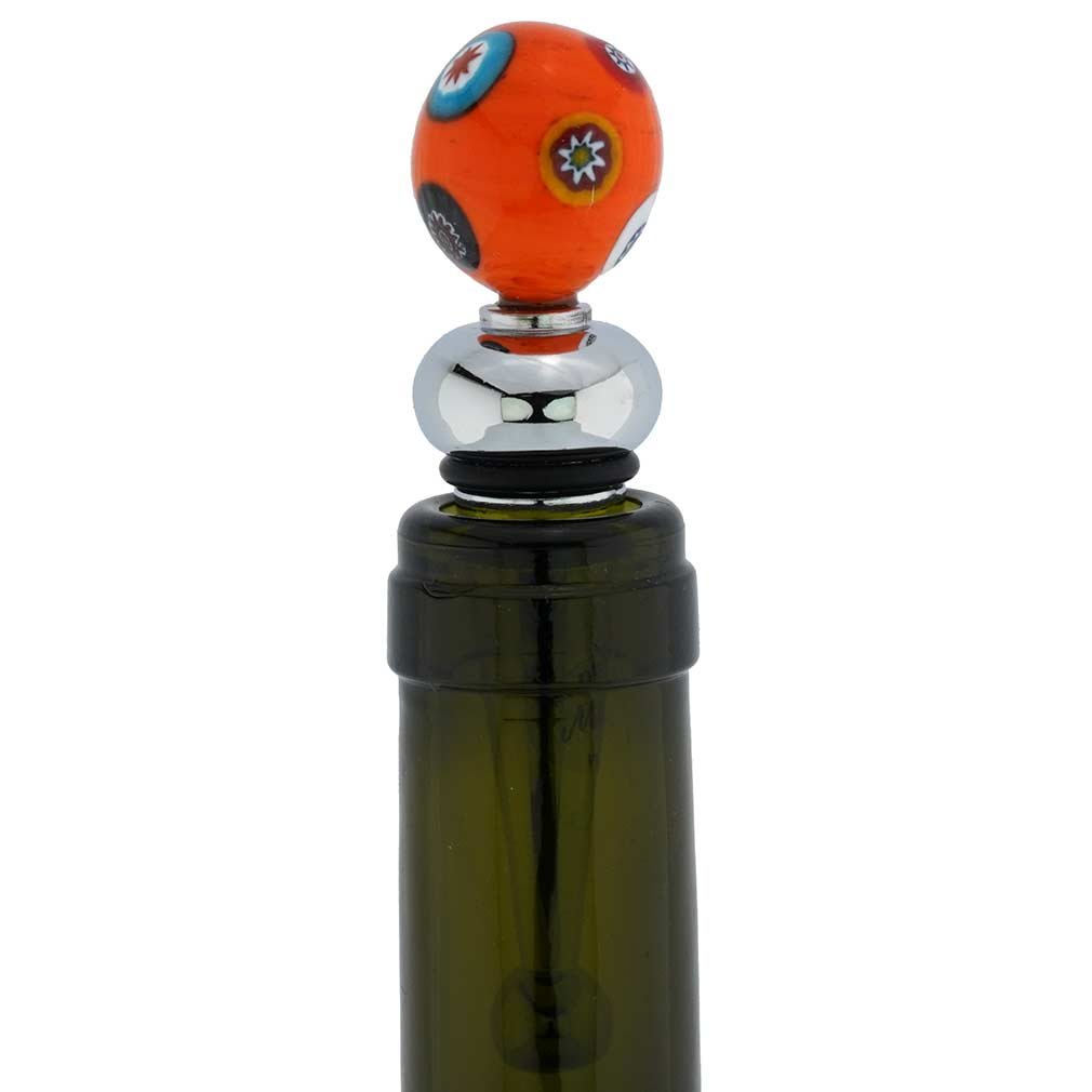 Venetian Mosaic bottle stopper - malachite green