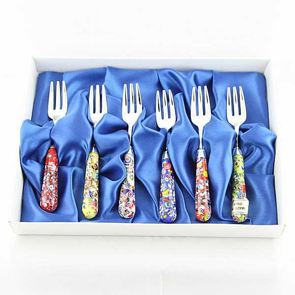 Set of 6 Scaglie antipasto forks