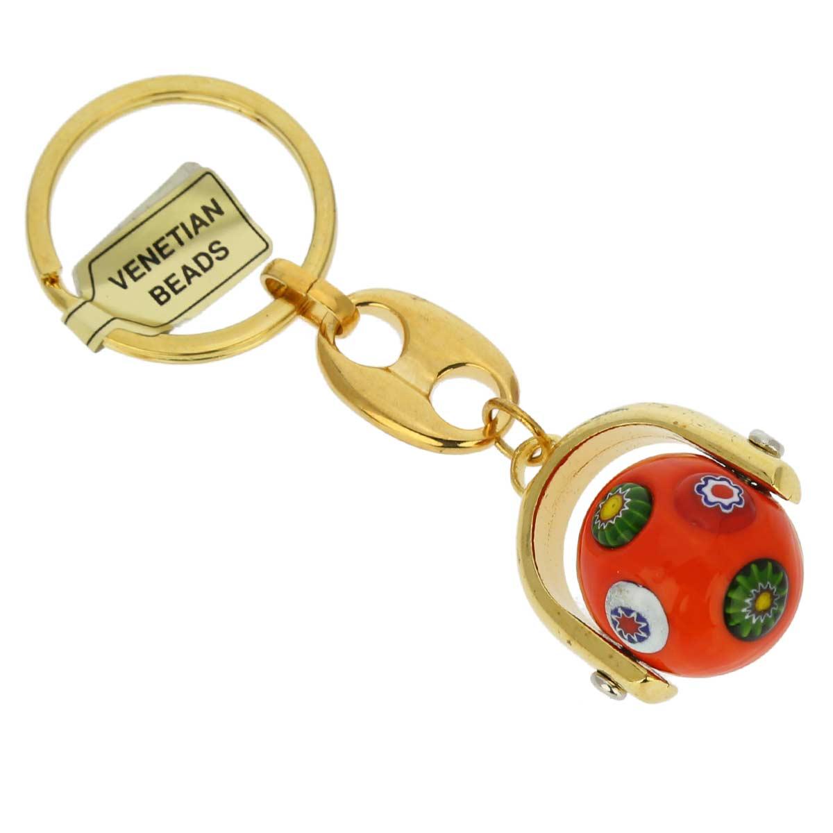 Venetian Mosaic Keychain - Sicilian Orange
