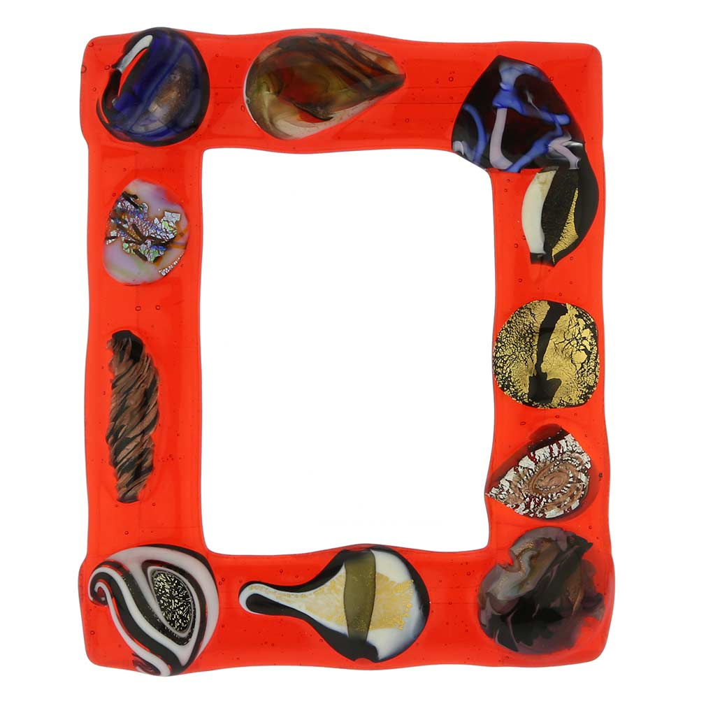Murano Glass Photo Frames Fanciful Photo Frame 5x7 In Lampworked