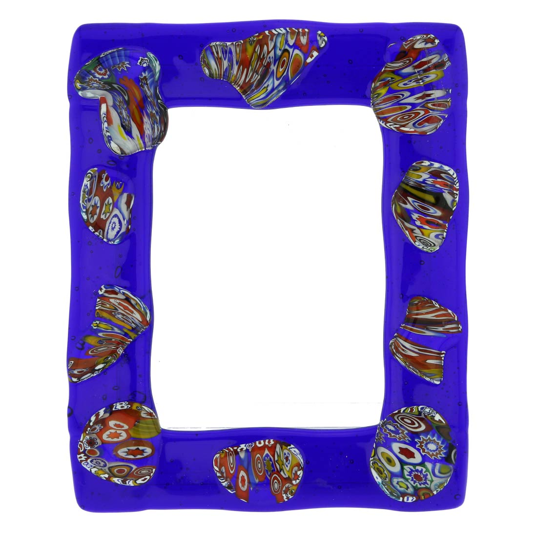 Fanciful Photo Frame 5x7 in lampworked glass #3