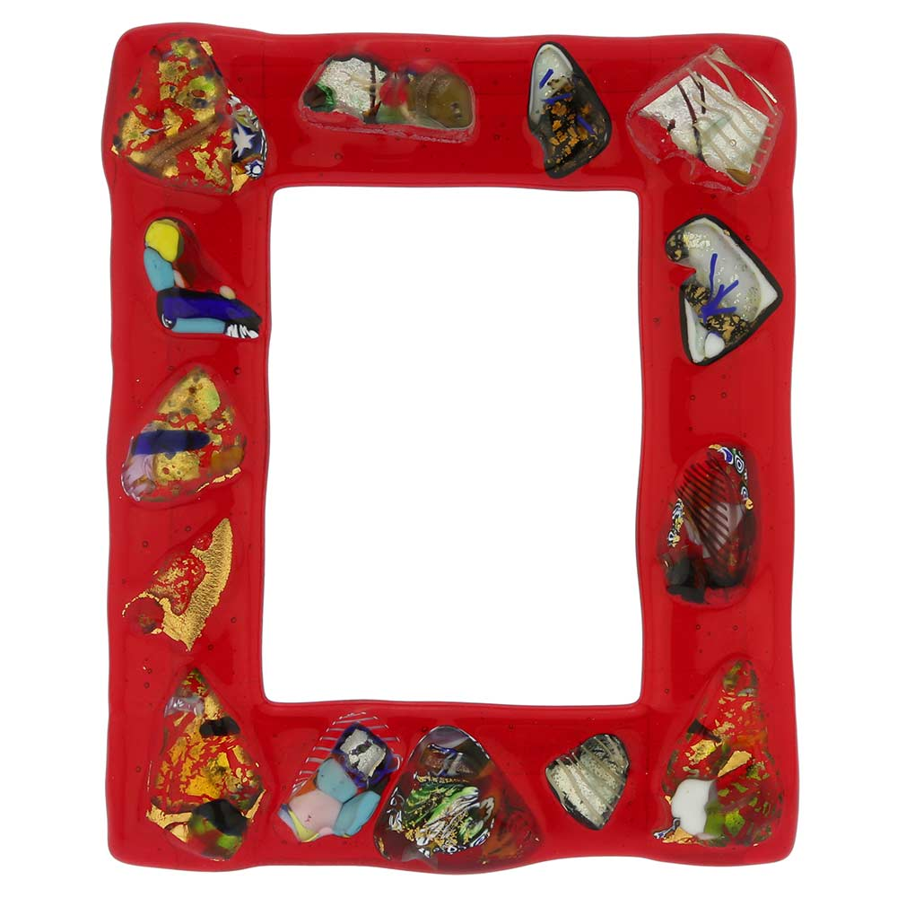 Fanciful Photo Frame 5x7 in lampworked glass #4