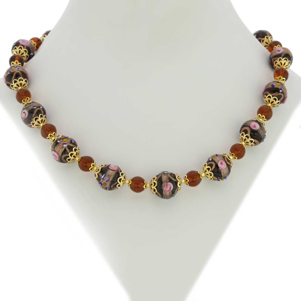 Necklace Venezia - Amber