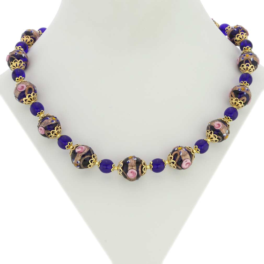 Necklace Venezia - Cobalt Blue