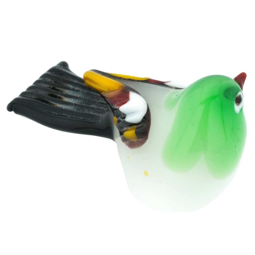 Murano Glass Baby Bird - Green