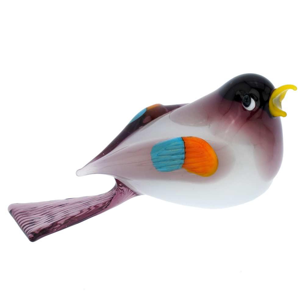 Murano Glass Baby Bird - Purple