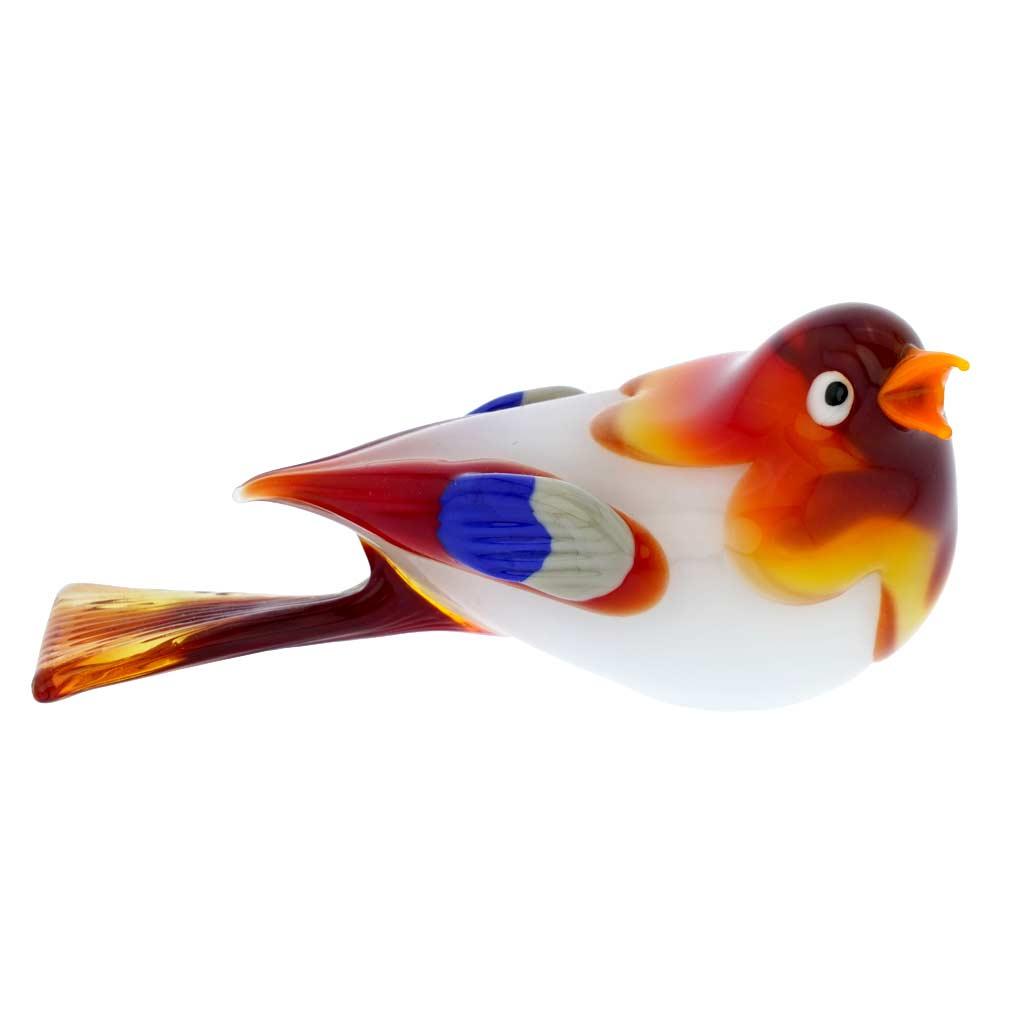 Murano Glass Baby Bird - Fire Red
