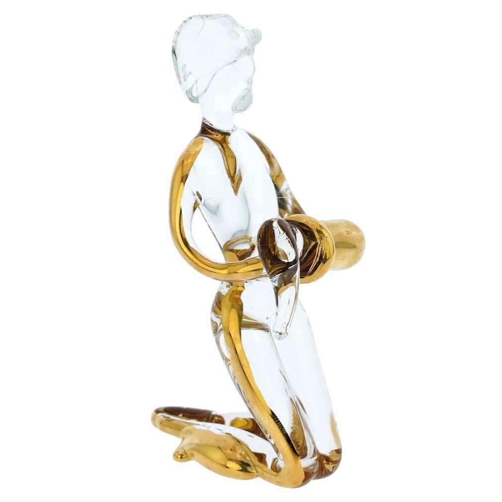 Murano Glass Zodiac Sign - Aquarius