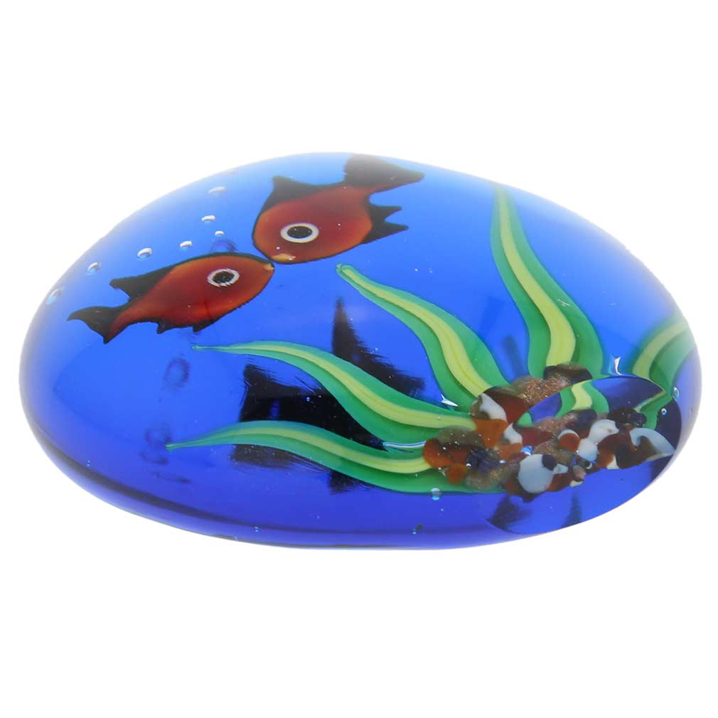 Murano Glass Aquarium With Goldfish