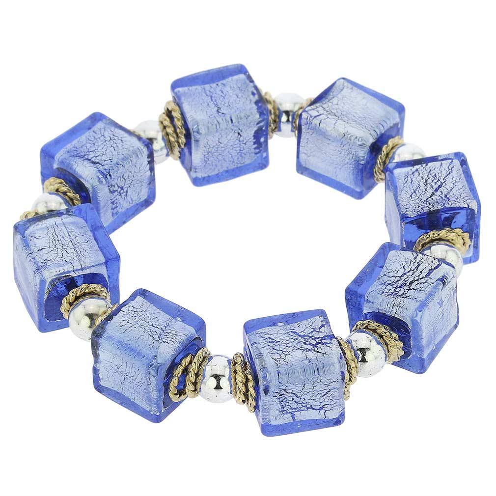 Brillio Venetian Cubes Bracelet - Azure Blue