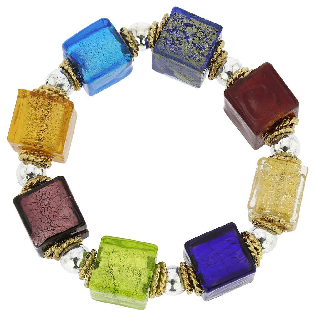 Brillio Venetian Cubes Bracelet - Multicolor