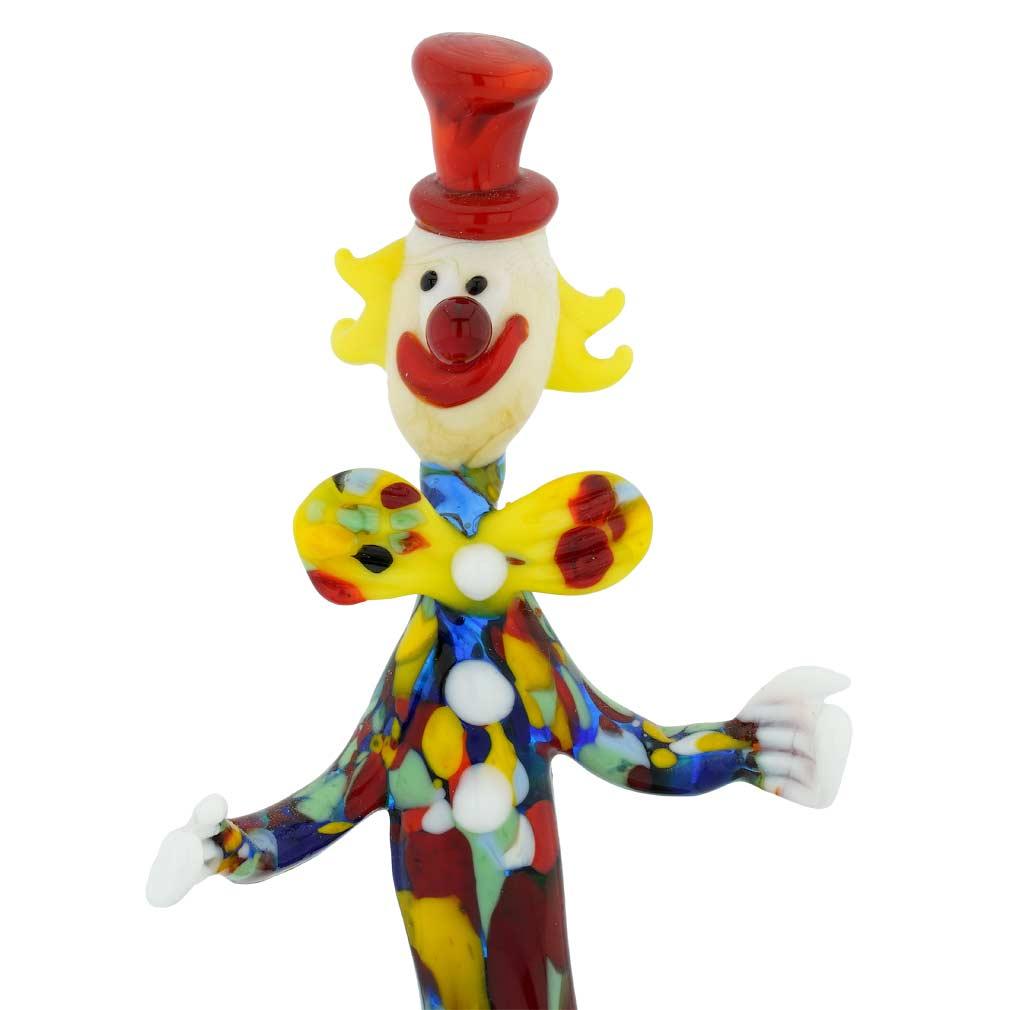 Murano Glass Clown on a Base