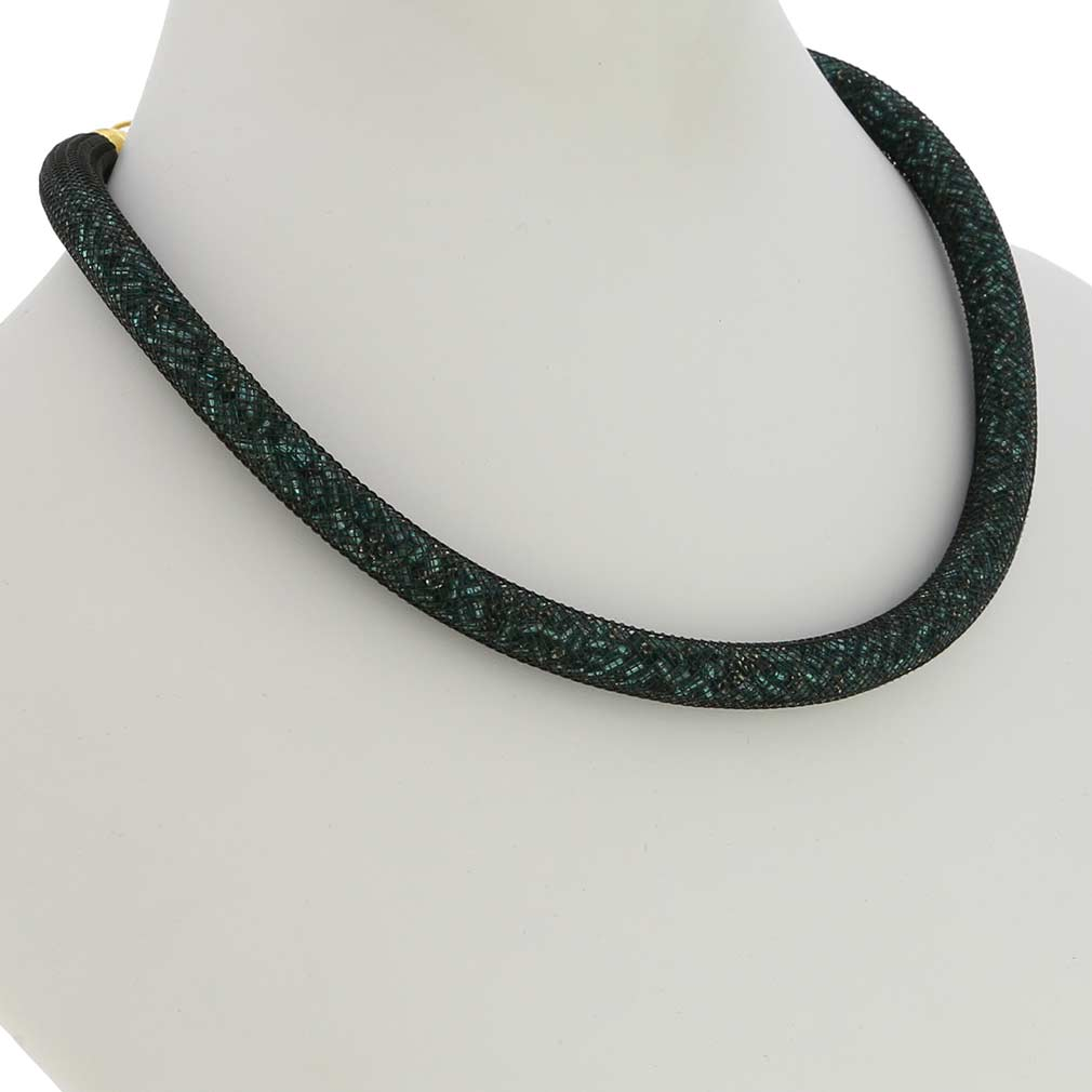 Murano Necklace Eleganza - Emerald Green