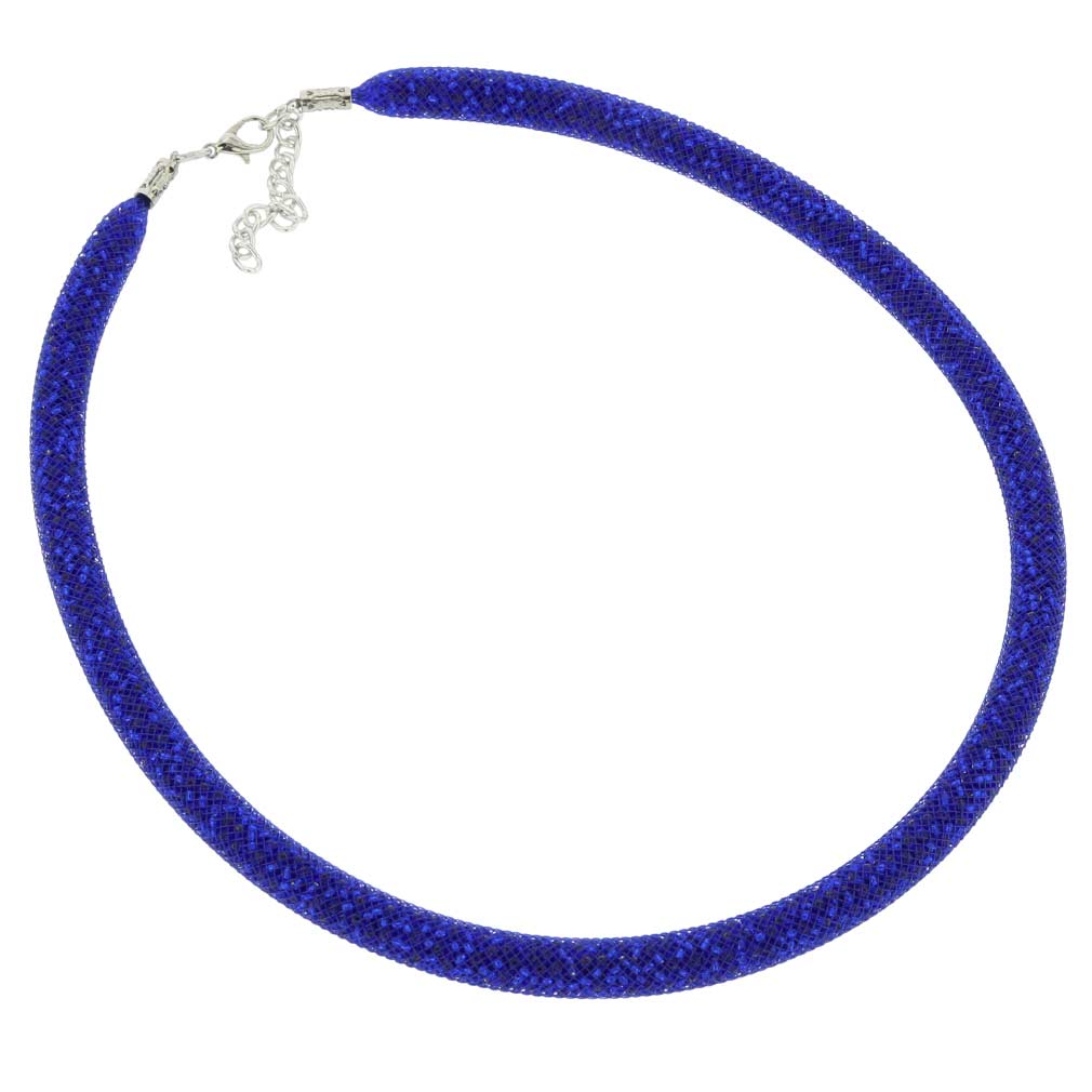 Murano Necklace Eleganza - Navy Blue