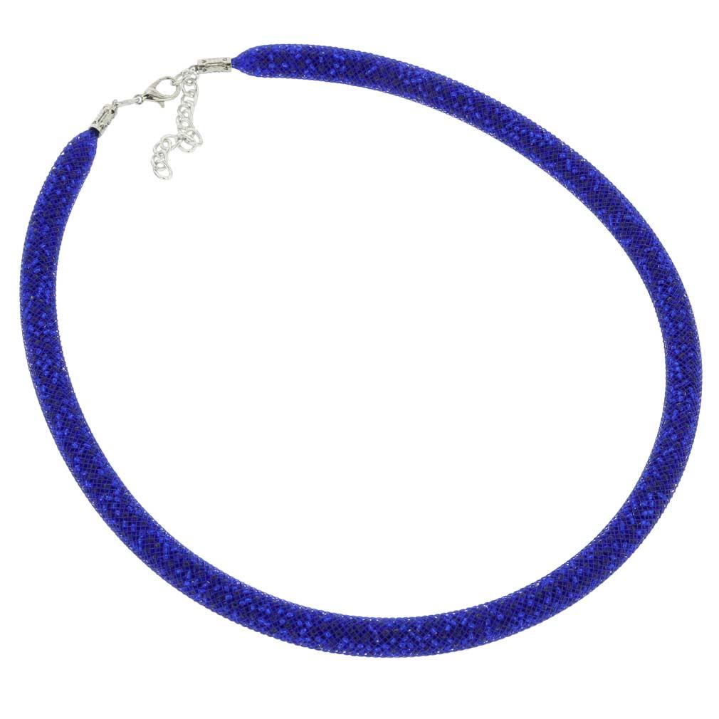 Murano Necklace Eleganza - Navy Blue